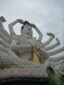 Moving to Thailand for things like this Temple Statue on Koh Samui, Thailand