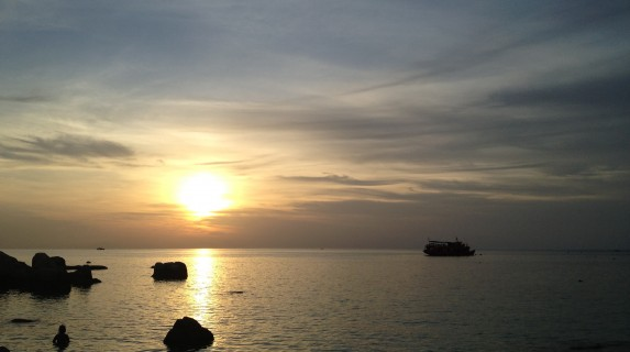 Koh Tao, one of the islands of Thailand - Sunset over the ocean
